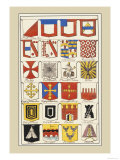Heraldic Arms: Twemlow and Mascally Posters by Hugh Clark