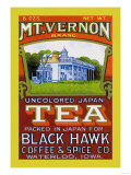 Mt. Vernon Brand Tea Poster