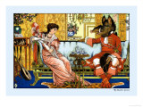Beauty and the Beast, The Courtship, c.1900 Art by Walter Crane
