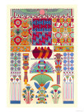 Egyptian Decor Poster by  Racinet