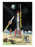 Friction Moon Rocket Art