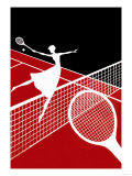 Partie de tennis Affiche