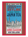 New York Skyline Tea Poster
