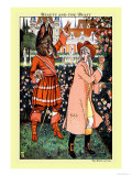 Beauty and the Beast, The Beast in Red, c.1900 Prints by Walter Crane