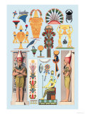 Egyptian Design Prints by  Racinet
