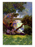 The Knave of Hearts in the Meadow Posters par Maxfield Parrish