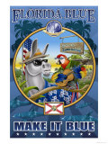 Florida Blue, Democraticville Poster by Richard Kelly