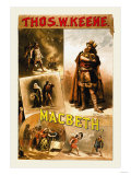 Thomas W. Keene as Macbeth, c.1884 Prints