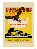 U.S. Marines Defend America Prints