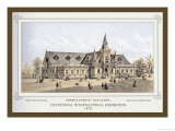 Pennsylvania Building, Centennial International Exhibition, 1876 Print by Thompson Westcott