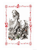 Alice in Wonderland: Alice Tips over the Jury Box Prints by John Tenniel