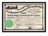 New York Street Improvement Fund Bond, c.1860 Prints