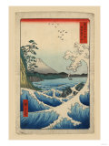 Mt. Fuji and a Rough Surf Print