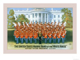 The United States Marine Band at the White House Print by W.l. Radcliffe