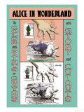 Alice in Wonderland: The White Rabbit and Alice's Big Hand Poster by John Tenniel