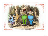 Through the Looking Glass: Tweedledum and Tweedledee Affiches par John Tenniel