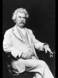 Mark Twain Print by A.f. Bradley
