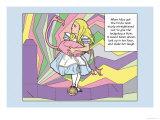 Alice in Wonderland: Alice and the Bird Stampe di Tenniel, John