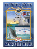 Florida Blue, The Keys to Democracy Prints by Richard Kelly