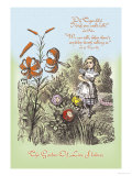 Through the Looking Glass: Garden of Live Flowers Print by John Tenniel