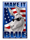 Make It Blue the Mascot Print by Richard Kelly