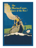 Join the U.S. Marine Corps, Soldiers of the Sea Posters