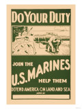 Do your Duty, Join the U.S. Marines Print