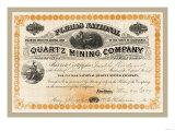 Plumas National Quartz Mining Company, c.1879 Posters