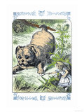 Alice in Wonderland: Alice and the Enormous Puppy Prints by John Tenniel
