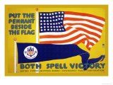 Put the Pennant Beside the Flag, c.1917 Prints by Charles Buckles Falls
