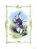 Alice in Wonderland: The White Rabbit Stampe di Tenniel, John