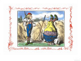 Alice in Wonderland: Father William and the Young Man Prints by John Tenniel