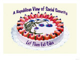 A Republican View of Social Security Poster