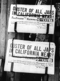 Ouster of All Japs Photo by Dorothea Lange