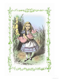 Alice in Wonderland: Alice and the Pig-Baby Art by John Tenniel