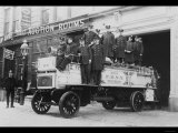 New York City Firemen Posed on a Fire Engine Photo