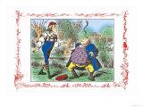 Alice in Wonderland: Father William Balances an Eel Poster di Tenniel, John