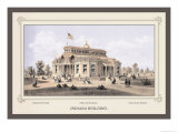 Indiana Building, Centennial International Exhibition, 1876 Posters by Thompson Westcott