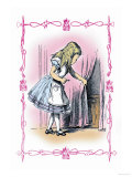 Alice in Wonderland: Alice Tries the Golden Key Print by John Tenniel