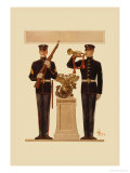 Two Marines Prints by Joseph Christian Leyendecker