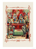 Alice in Wonderland: The King and Queen's Court Poster by John Tenniel