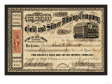 Gold and Silver Mining Company, c.1865 Print