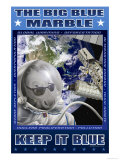 The Big Blue Marble Premium Giclee Print by Richard Kelly