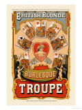 British Blonde Burlesque Troupe Posters by Sheridan Corbyn
