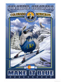 Colorful Colorado, Make It Blue Poster by Richard Kelly