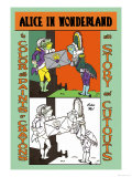 Alice in Wonderland: Frontman and Footman Art by John Tenniel