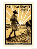 National Service Women's Land Army Posters by Henry George Gawthorn