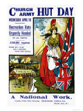 Hut Day, A National Work Premium Giclee Print by Ernest Hasseldine