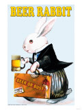 Beer Rabbit Prints