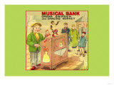 Organ Grinder Musical Bank Posters